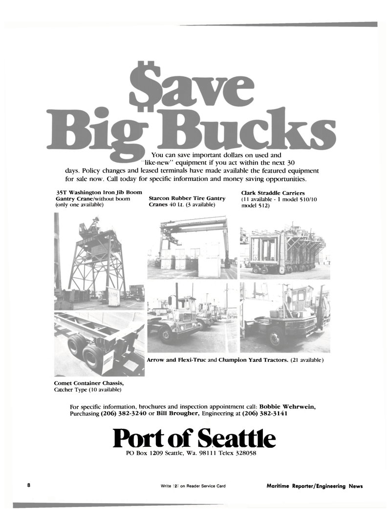 Maritime Reporter Magazine, page 6,  Oct 1981 Type