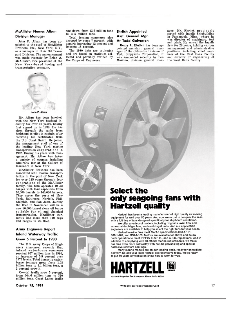 Maritime Reporter Magazine, page 15,  Oct 15, 1981 Ohio