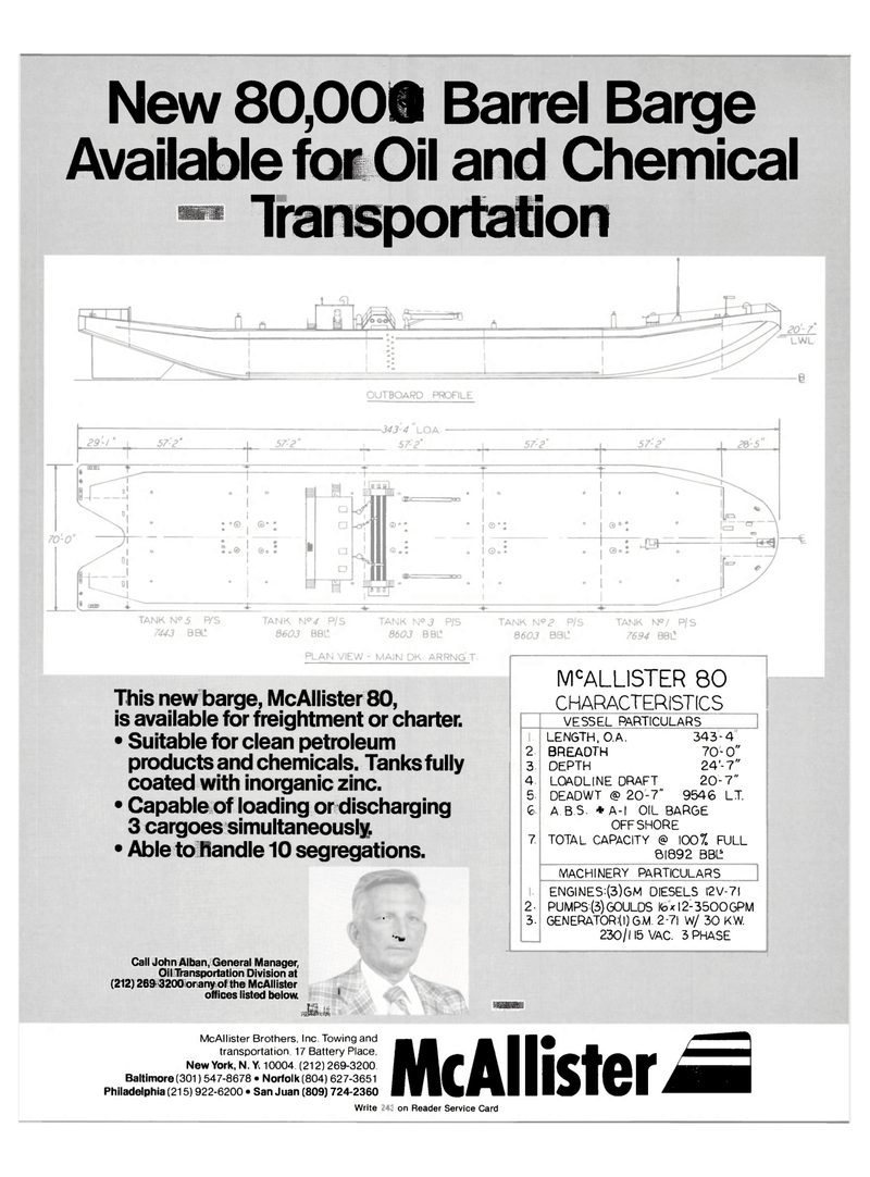 Maritime Reporter Magazine, page 1,  Oct 15, 1981 clean petroleum products