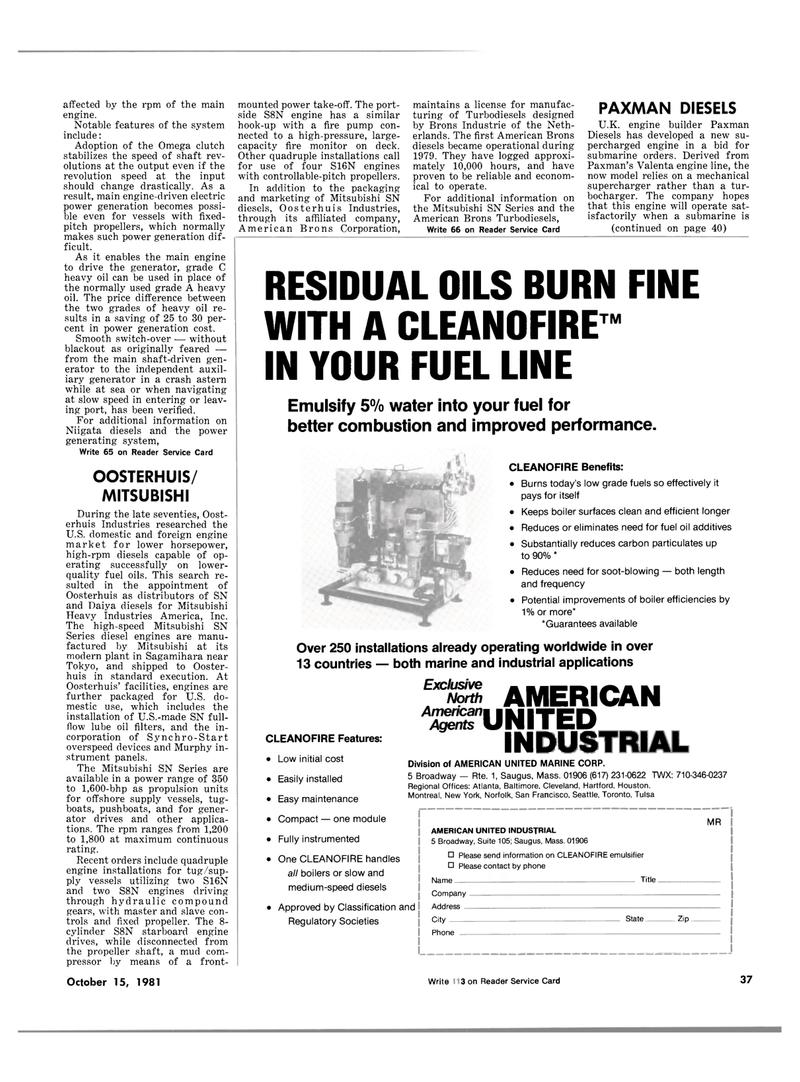 Maritime Reporter Magazine, page 33,  Oct 15, 1981 engine builder