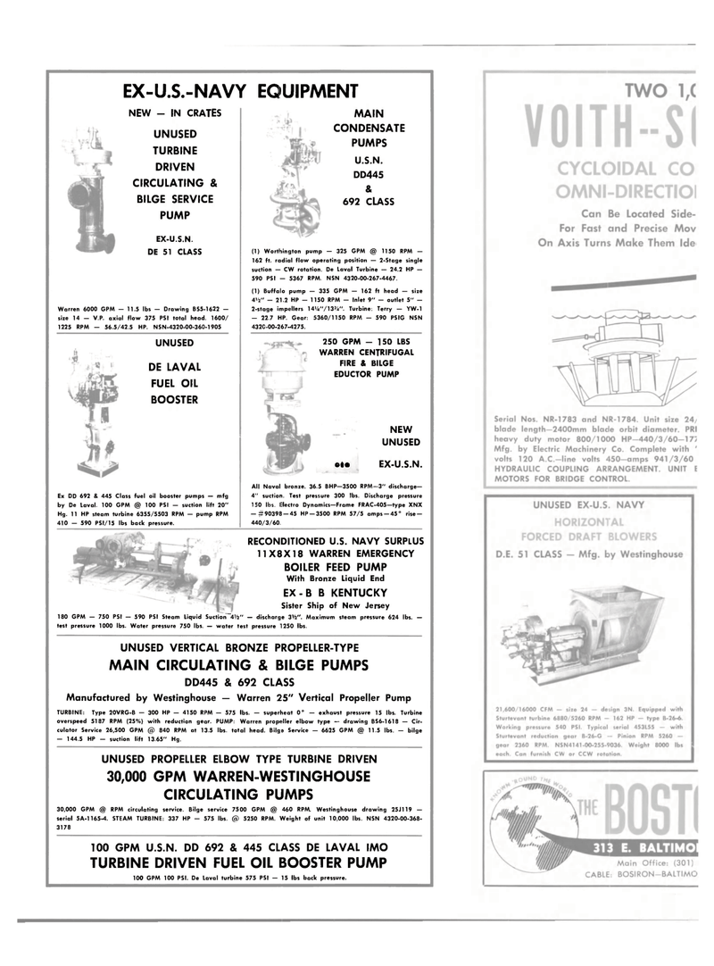 Maritime Reporter Magazine, page 34,  Oct 15, 1981 WARREN CENTRIFUGAL