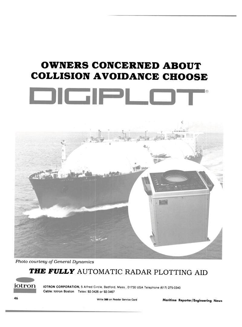 Maritime Reporter Magazine, page 42,  Oct 15, 1981 IOTRON CORPORATION