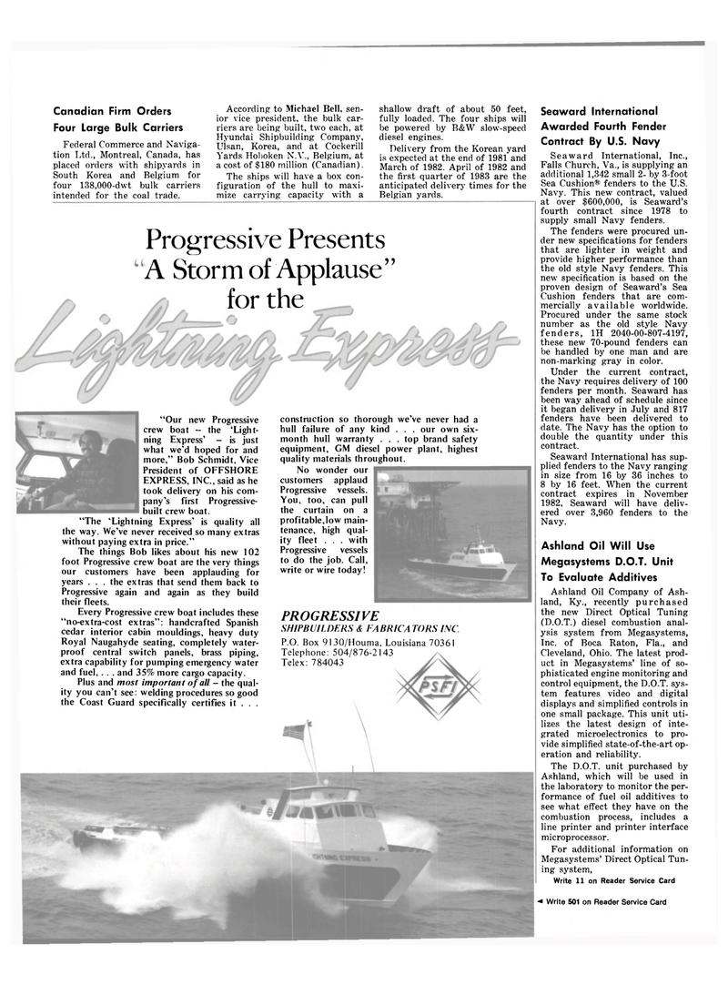 Maritime Reporter Magazine, page 48,  Oct 15, 1981 Virginia