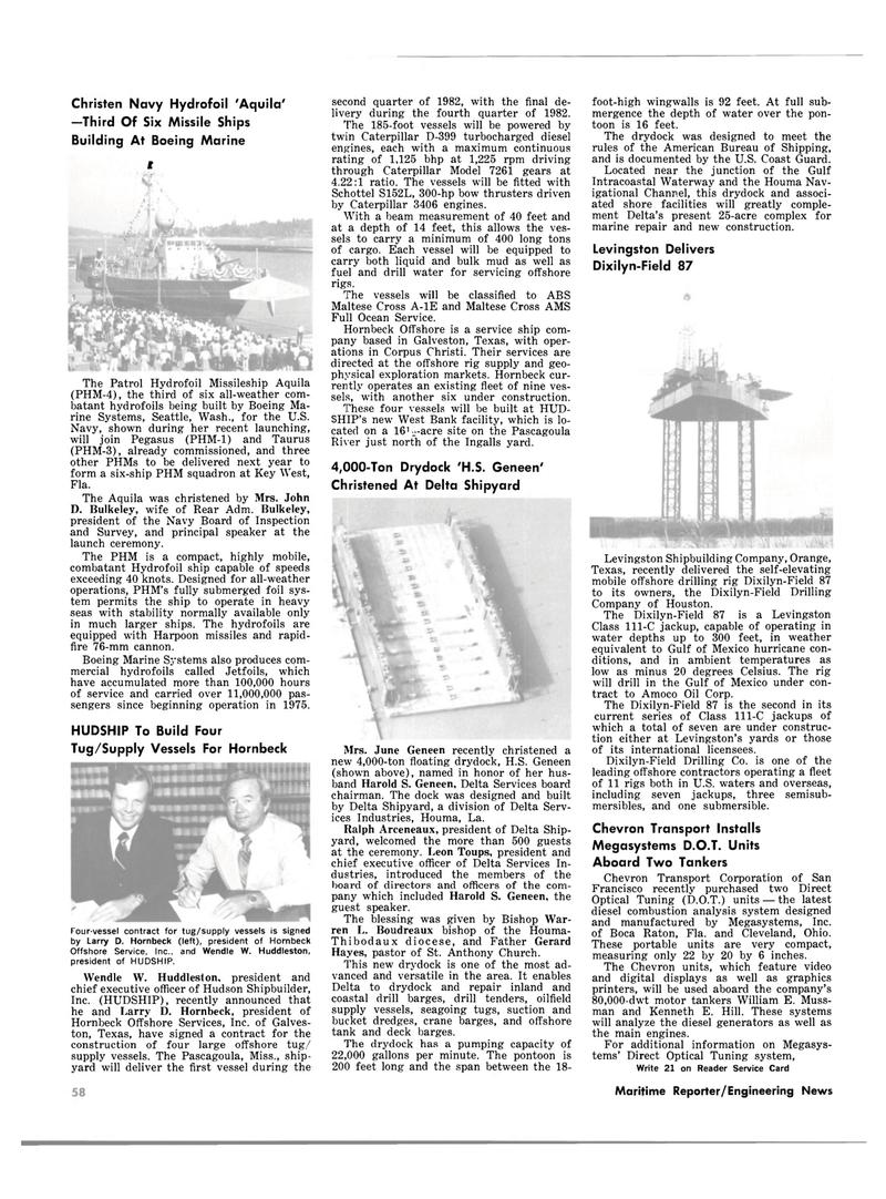 Maritime Reporter Magazine, page 54,  Oct 15, 1981