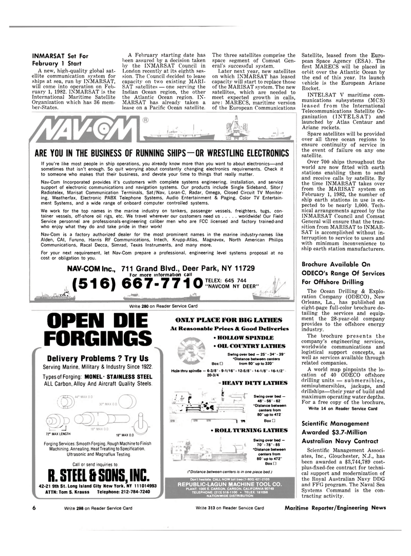 Maritime Reporter Magazine, page 4,  Oct 15, 1981 Indian Ocean