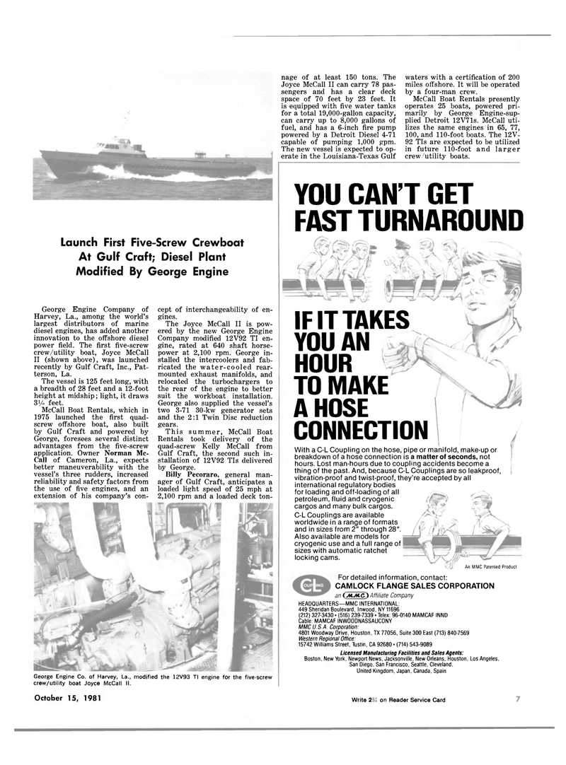 Maritime Reporter Magazine, page 5,  Oct 15, 1981 Billy Pecoraro