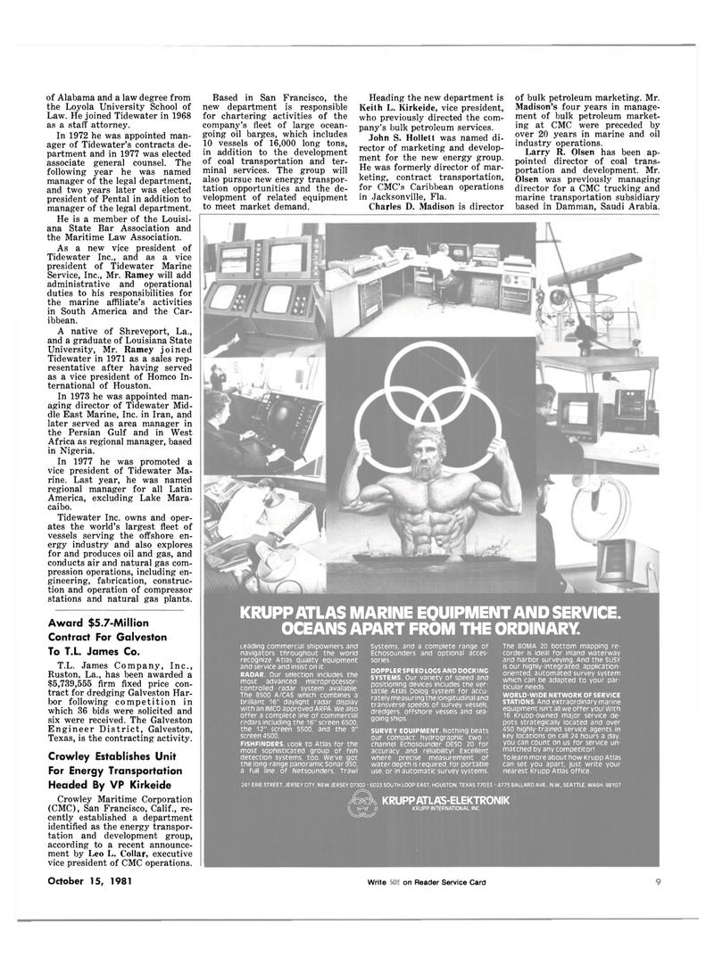 Maritime Reporter Magazine, page 7,  Oct 15, 1981 Persian Gulf