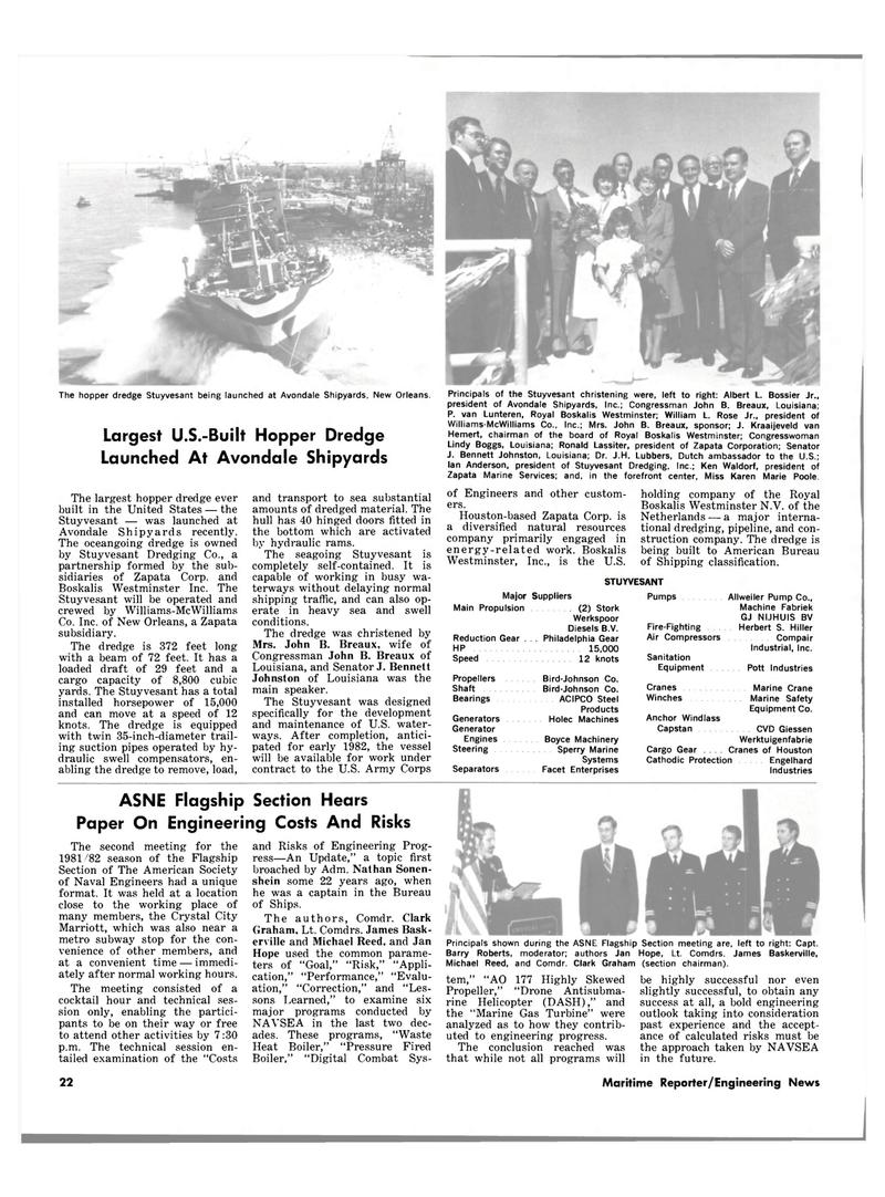Maritime Reporter Magazine, page 18,  Dec 15, 1981