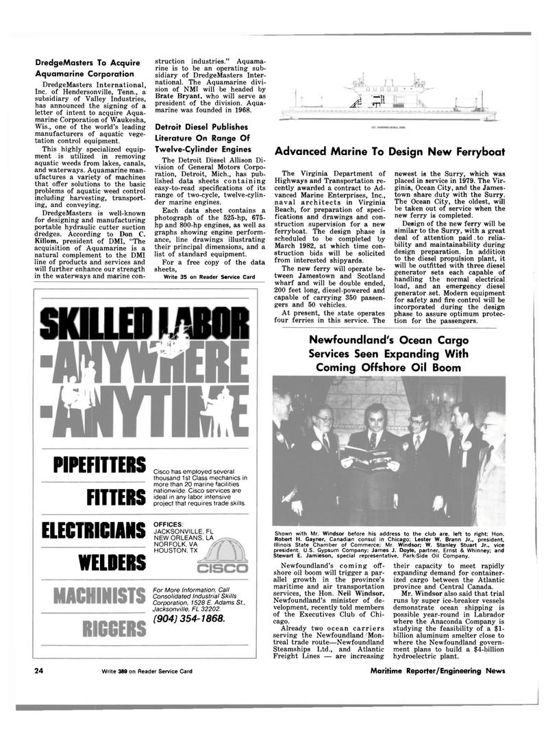 Maritime Reporter Magazine, page 20,  Dec 15, 1981