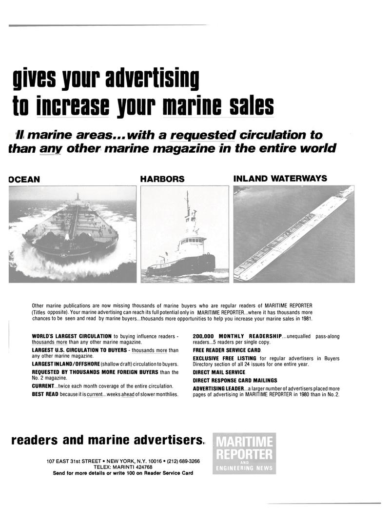 Maritime Reporter Magazine, page 29,  Dec 15, 1981