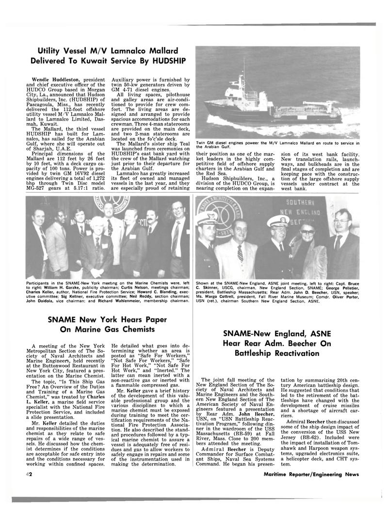 Maritime Reporter Magazine, page 34,  Dec 15, 1981