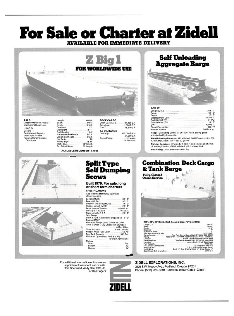 Maritime Reporter Magazine, page 39,  Dec 15, 1981