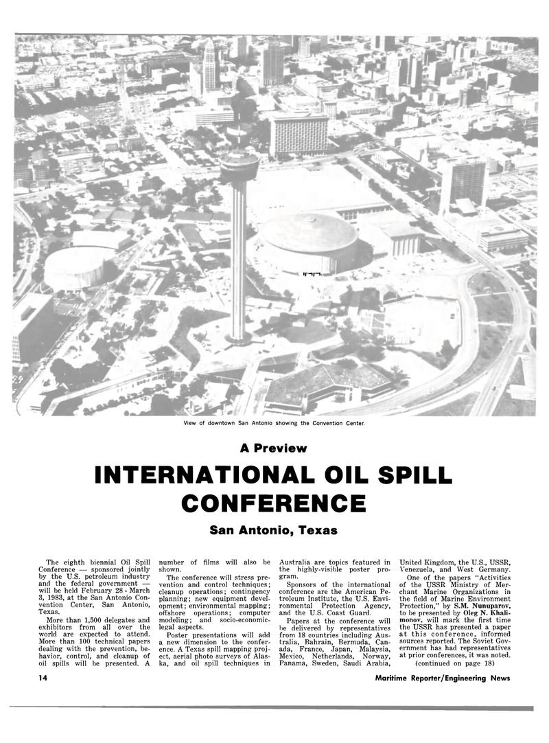Maritime Reporter Magazine, page 10,  Feb 15, 1983