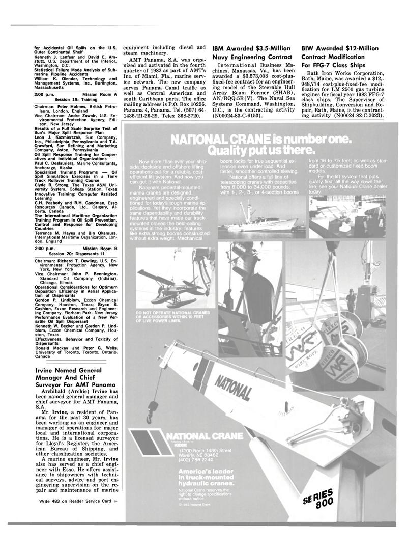 Maritime Reporter Magazine, page 19,  Feb 15, 1983