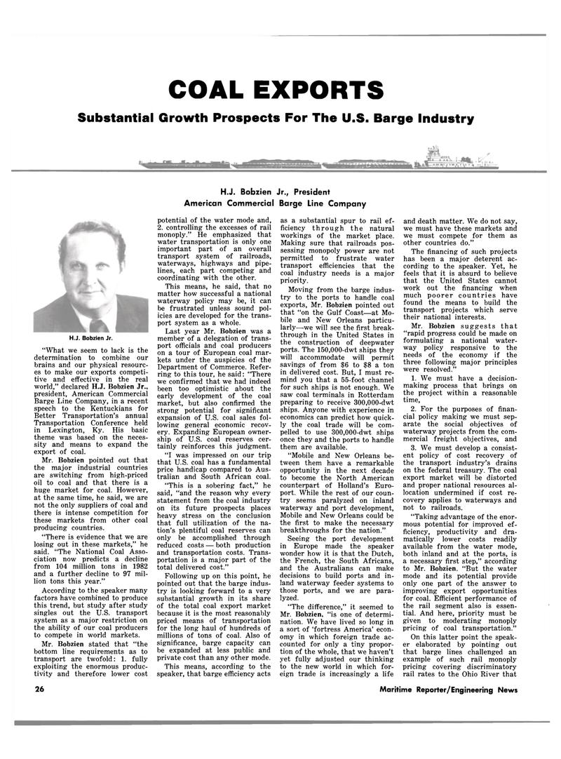 Maritime Reporter Magazine, page 22,  Feb 15, 1983