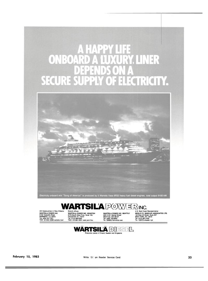 Maritime Reporter Magazine, page 29,  Feb 15, 1983
