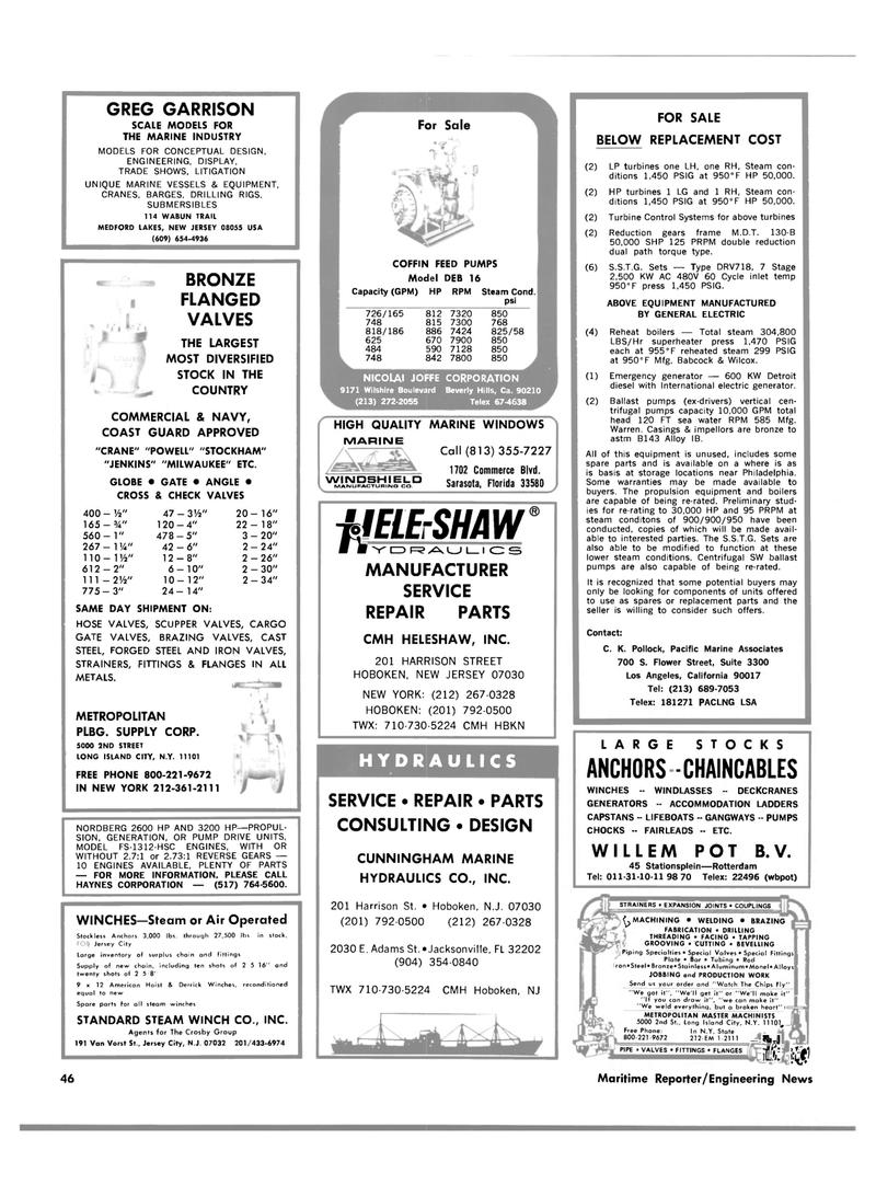 Maritime Reporter Magazine, page 42,  Feb 15, 1983