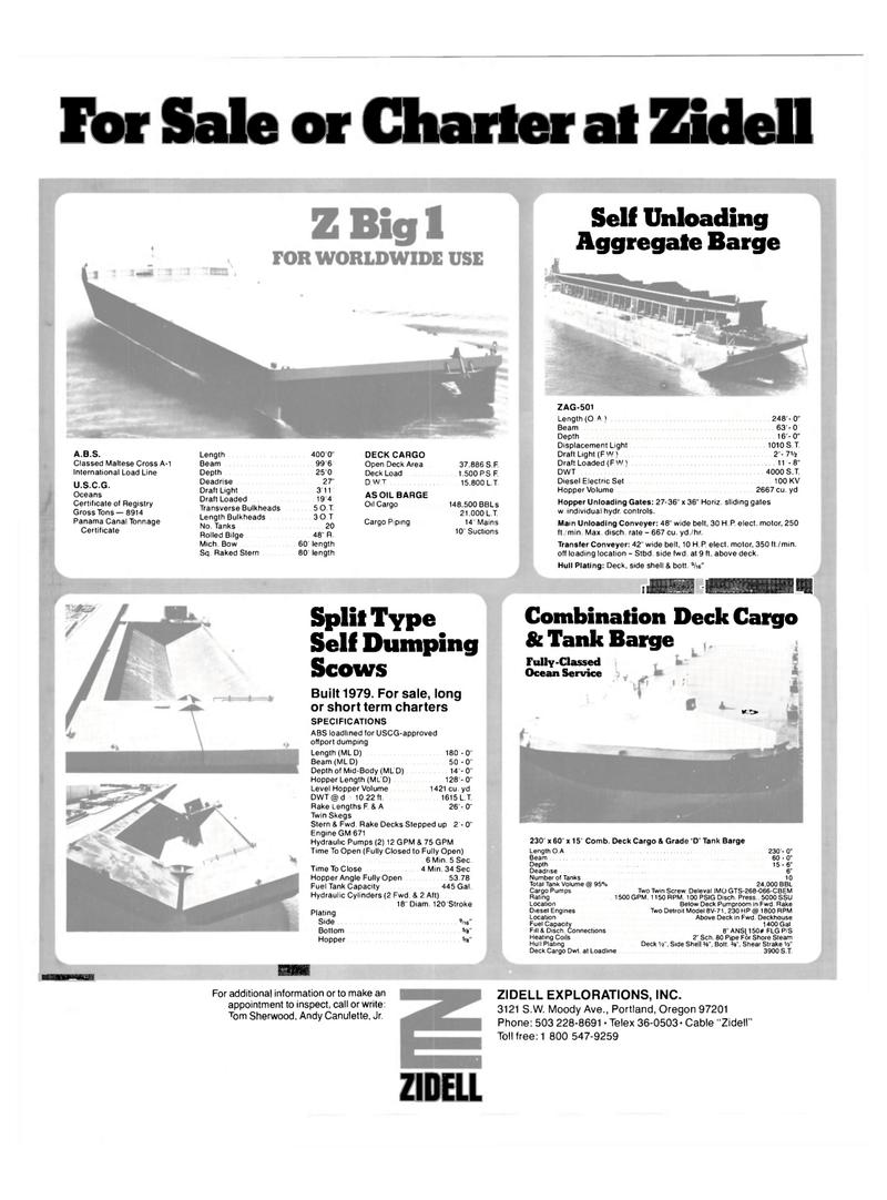 Maritime Reporter Magazine, page 44,  Feb 15, 1983