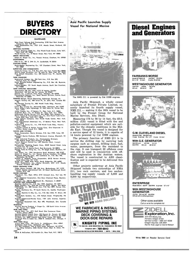Maritime Reporter Magazine, page 50,  Feb 15, 1983