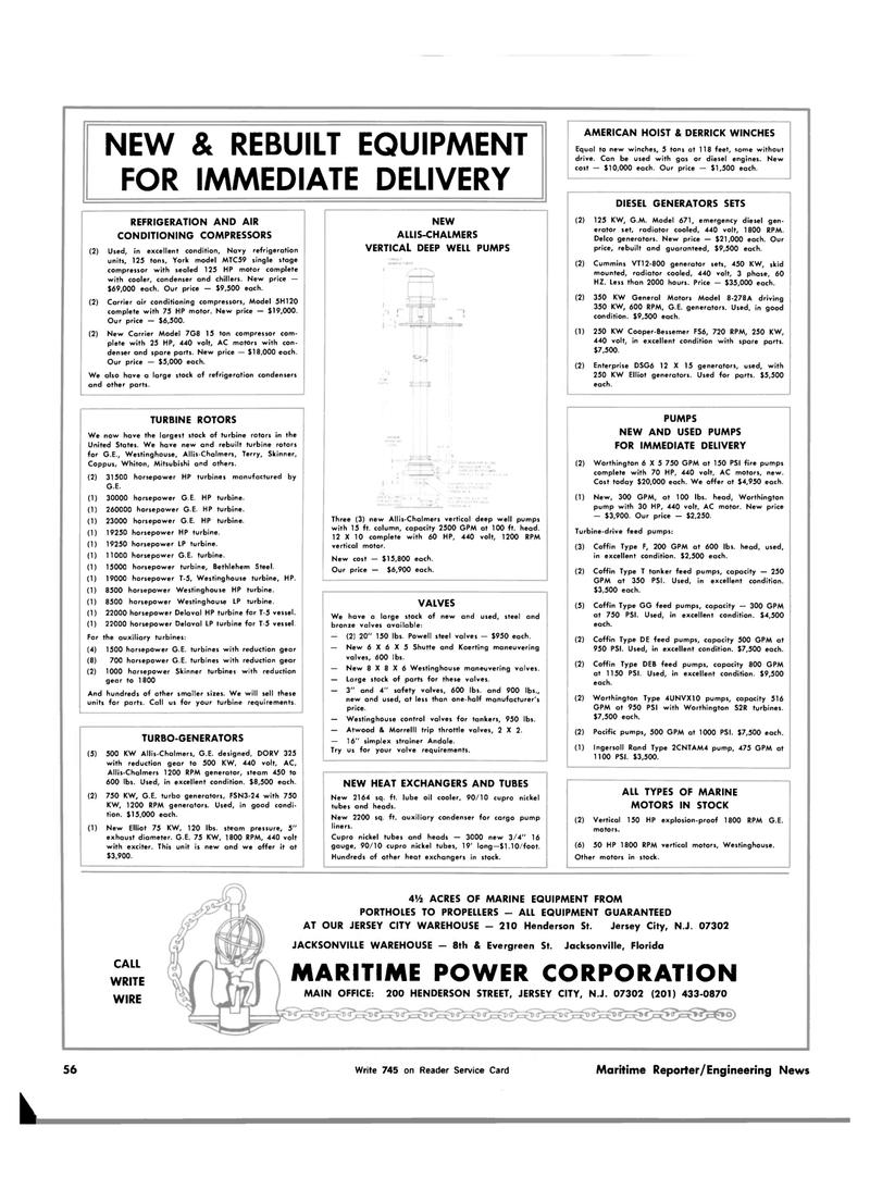 Florida, Maritime Reporter Magazine February 15, 1983 #52