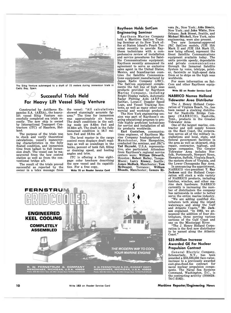 Maritime Reporter Magazine, page 6,  Feb 15, 1983