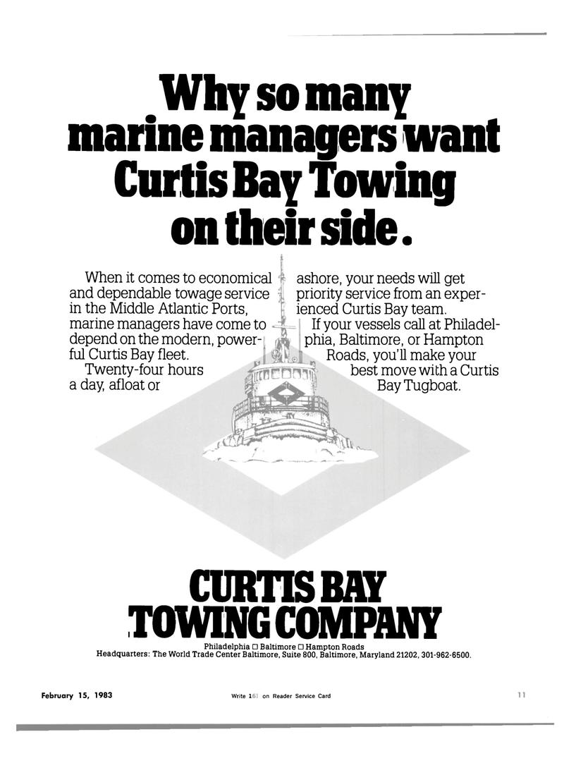 Maritime Reporter Magazine, page 7,  Feb 15, 1983