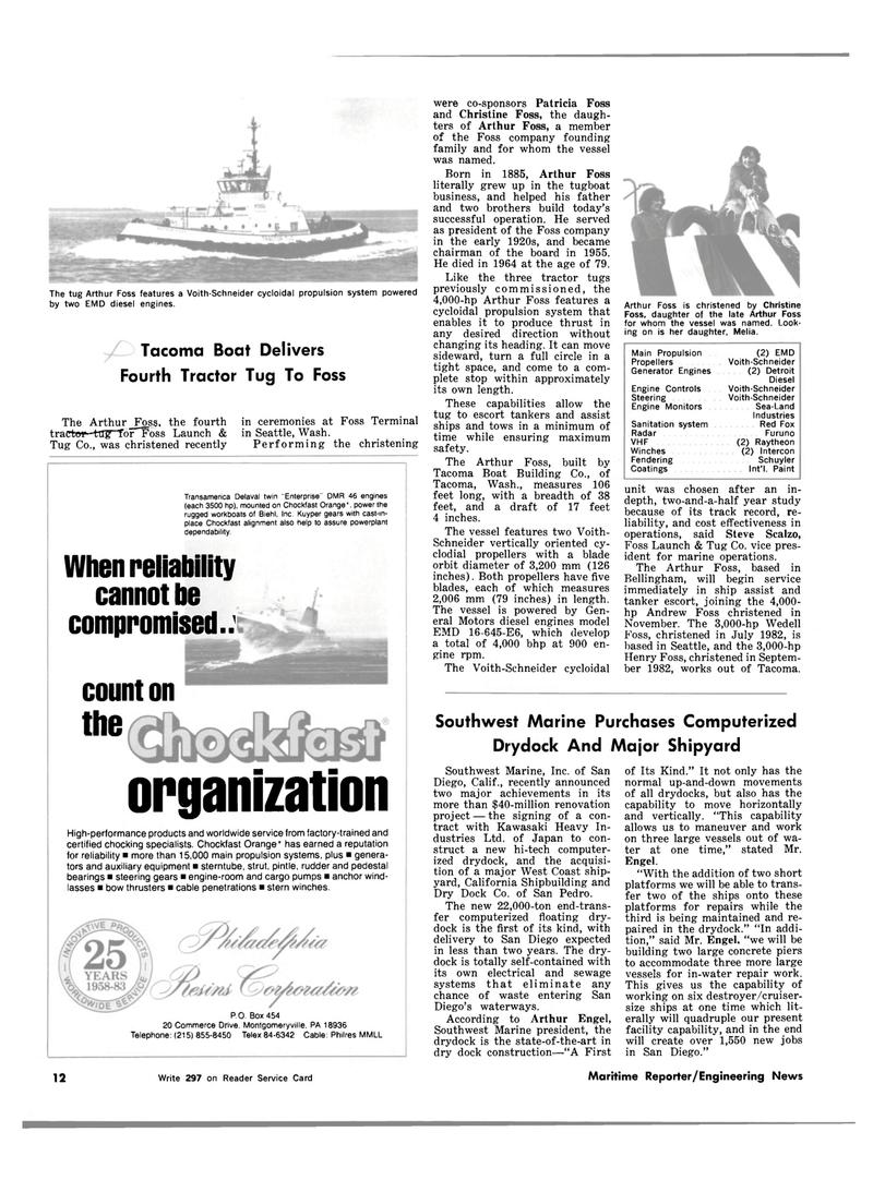 Maritime Reporter Magazine, page 10,  Mar 1983 Pennsylvania