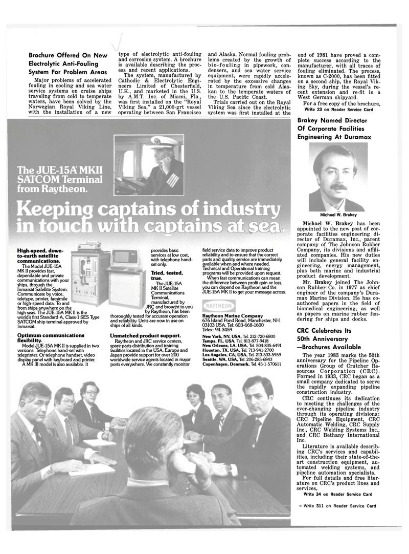 Maritime Reporter Magazine, page 18,  Mar 1983