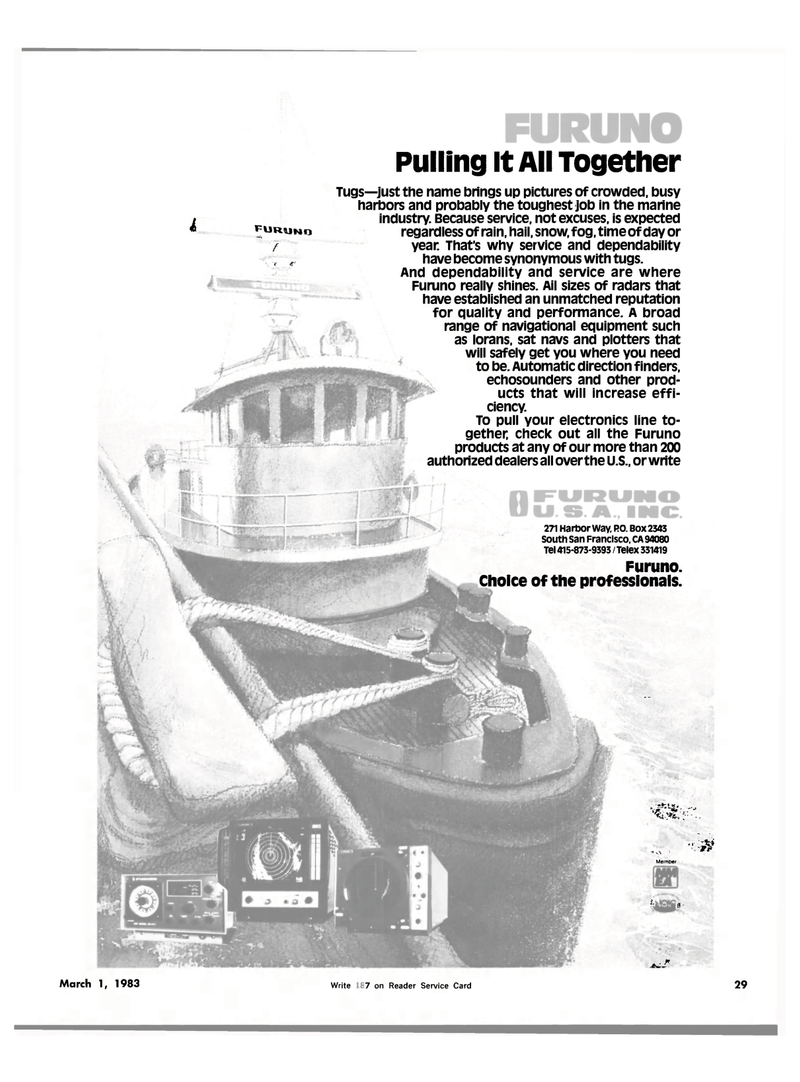 Maritime Reporter Magazine, page 27,  Mar 1983 Harbor Way