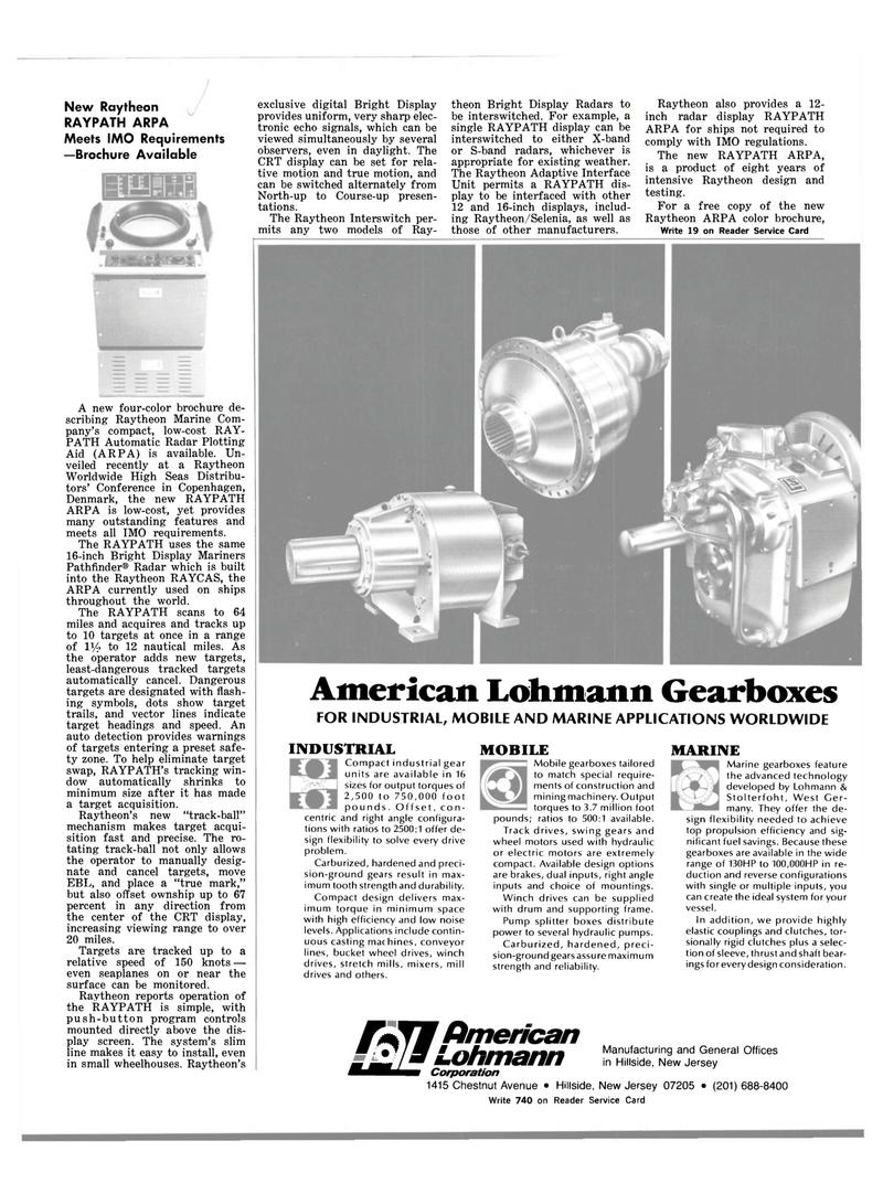 Maritime Reporter Magazine, page 29,  Mar 1983 Raytheon Adaptive Interface Unit