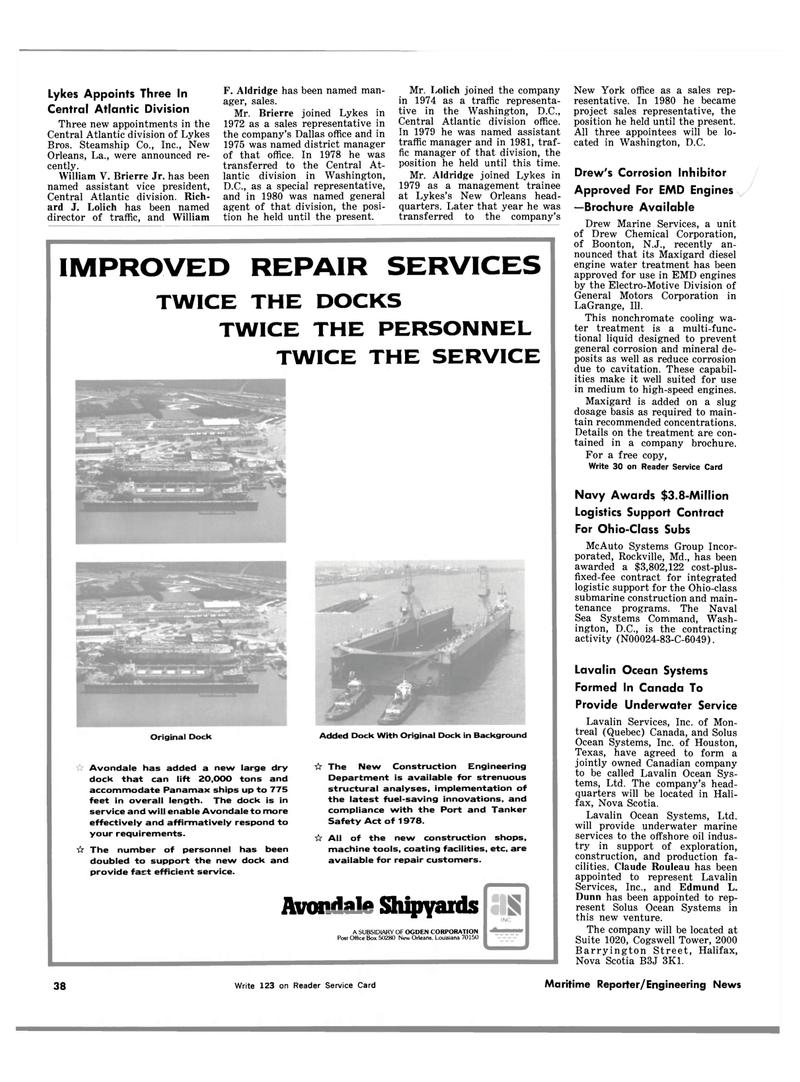 Maritime Reporter Magazine, page 36,  Mar 1983 Maryland