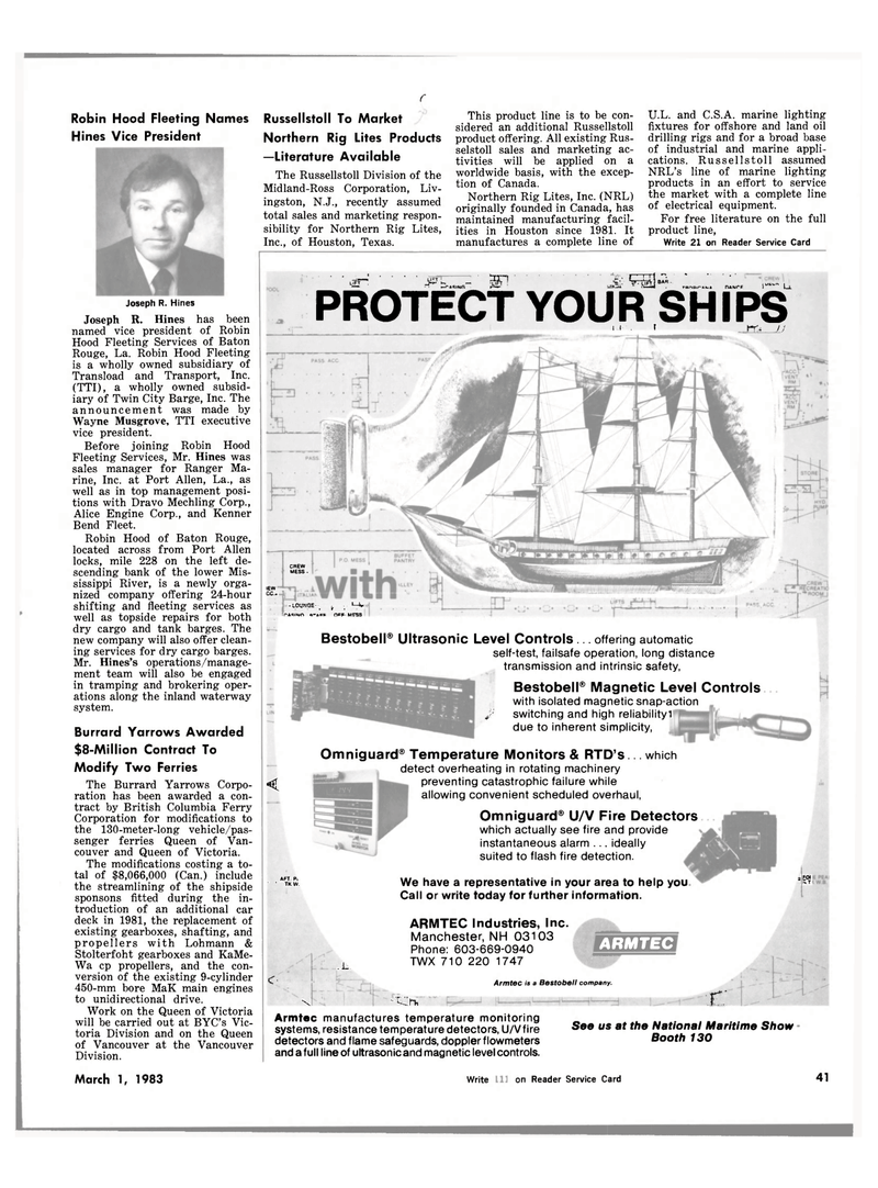 Maritime Reporter Magazine, page 39,  Mar 1983 New Hampshire
