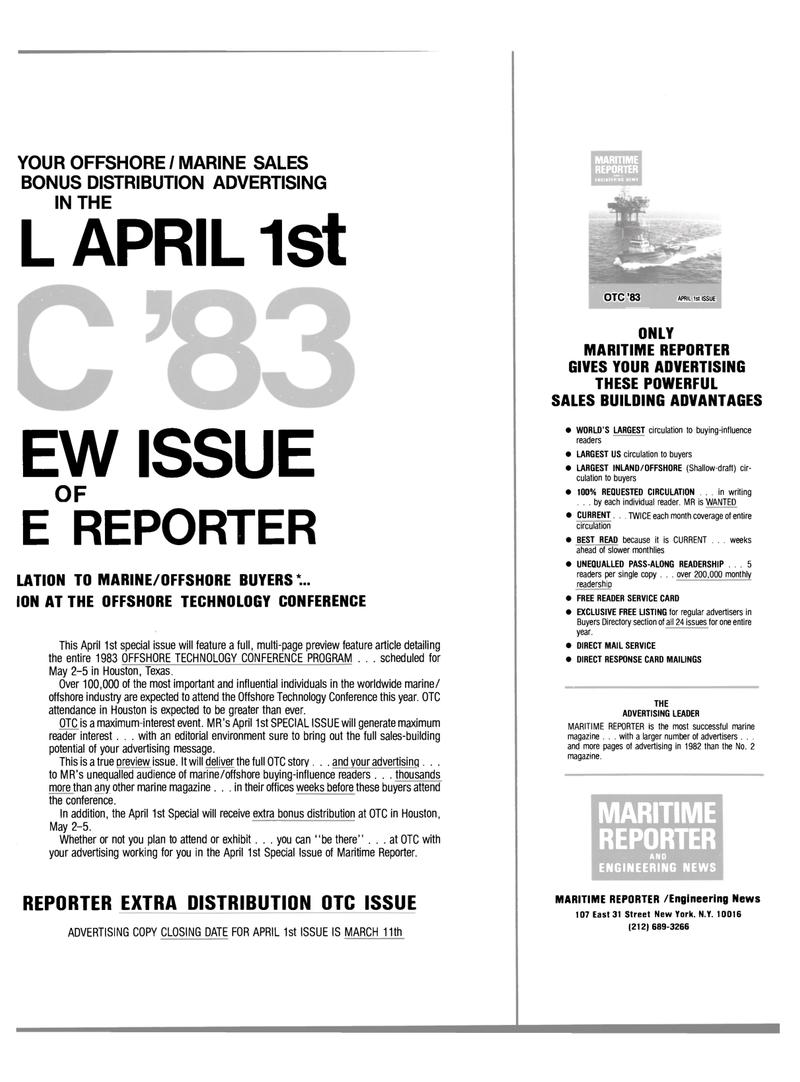 Maritime Reporter Magazine, page 43,  Mar 1983 Texas