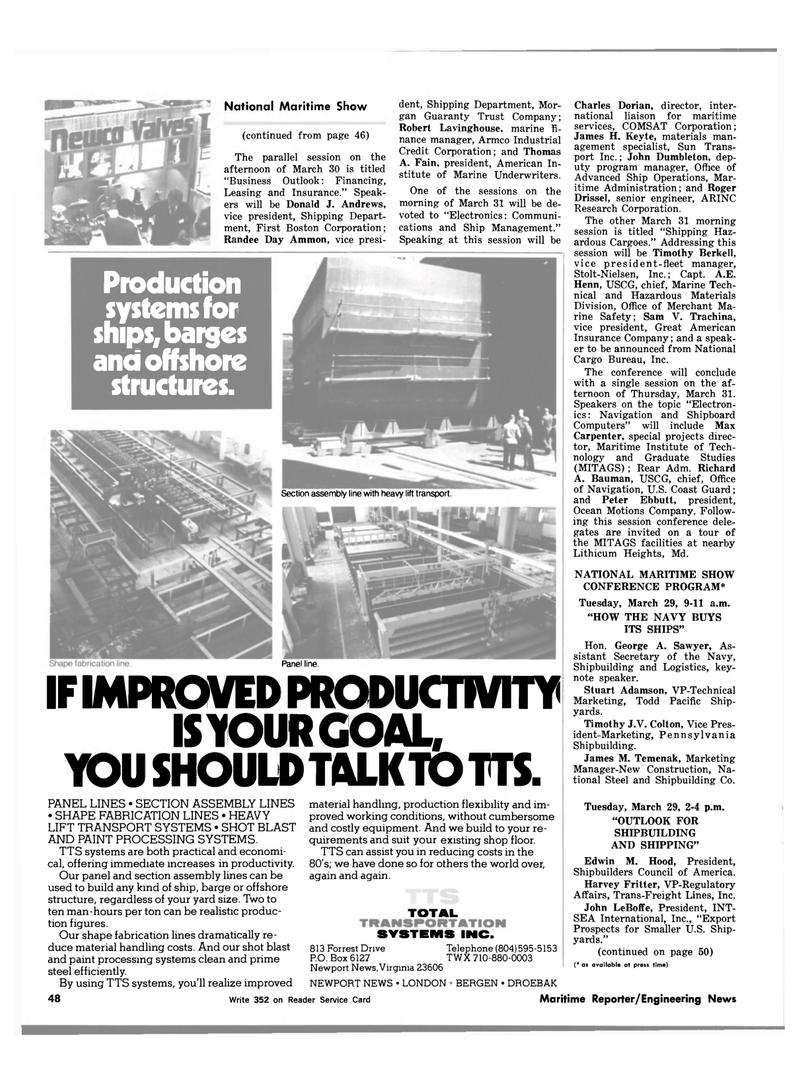 Maritime Reporter Magazine, page 46,  Mar 1983 Maryland