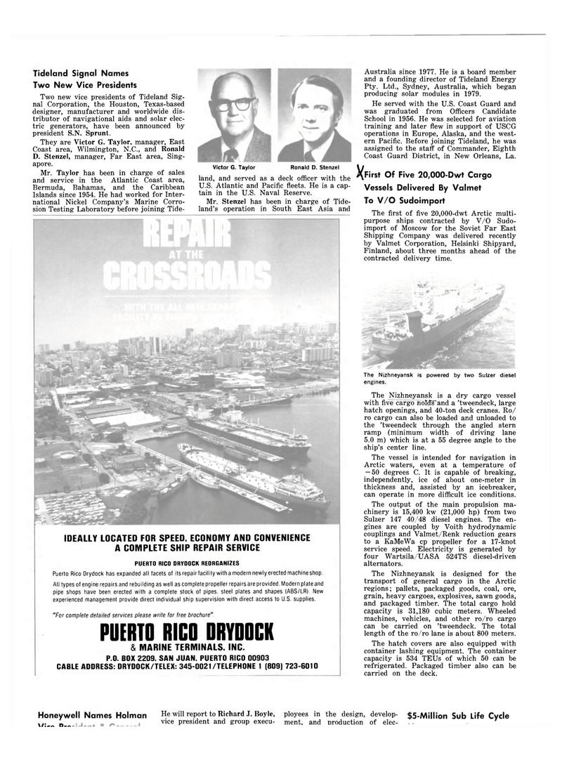 Maritime Reporter Magazine, page 50,  Mar 1983 Caribbean