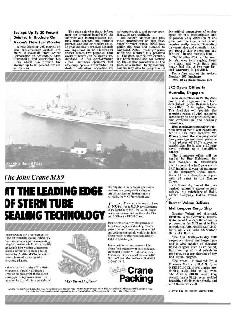 Maritime Reporter Magazine, page 56,  Mar 1983 f-the-art stern tube sealing technology