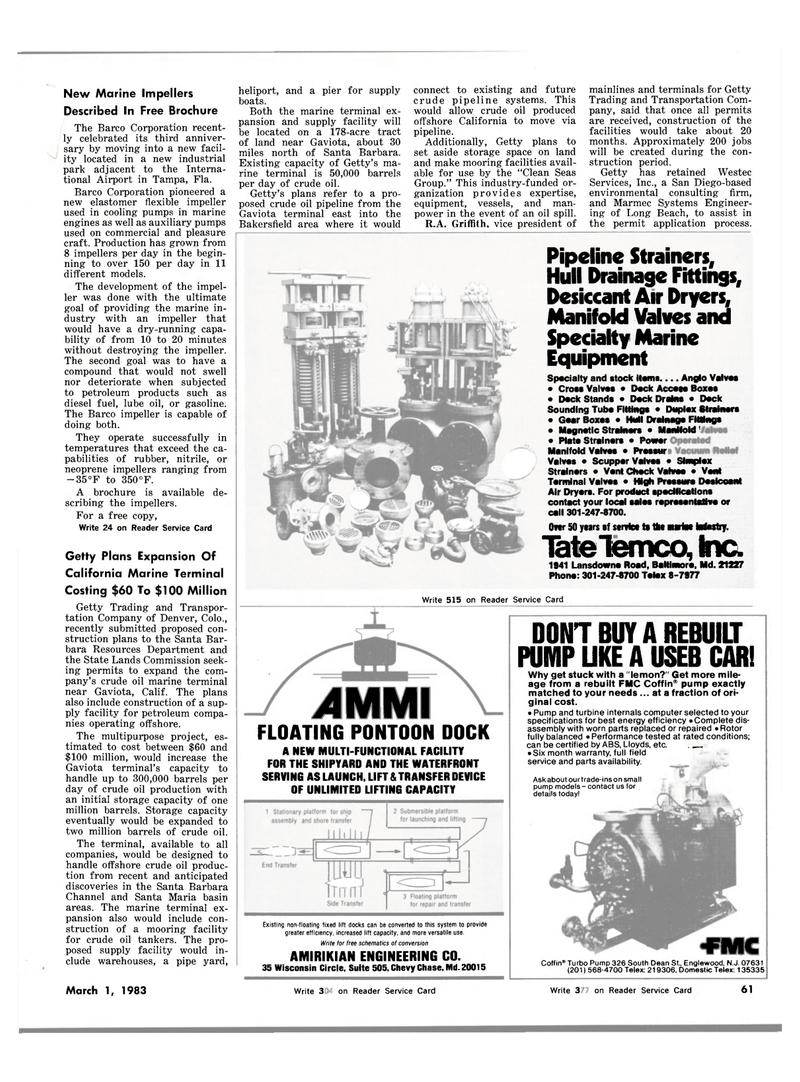 Maritime Reporter Magazine, page 61,  Mar 1983 Maryland