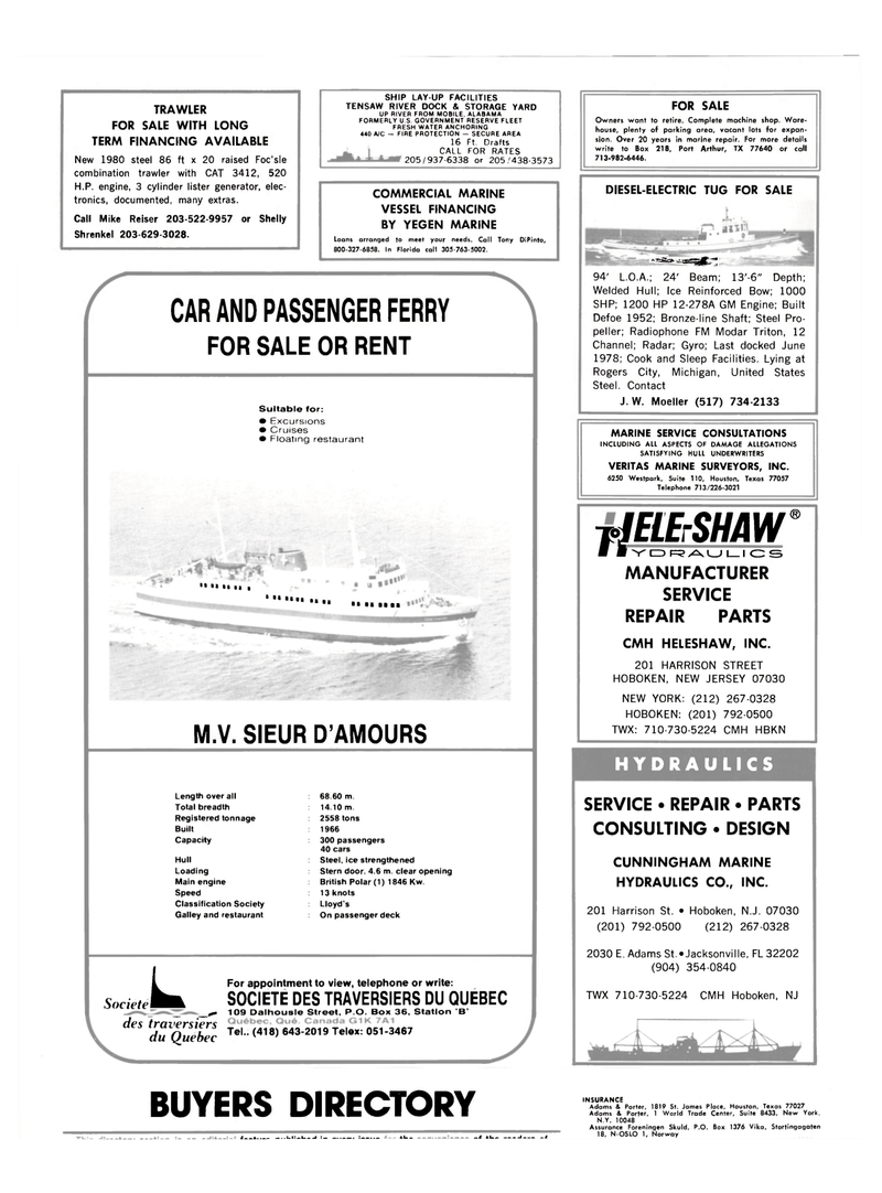 Maritime Reporter Magazine, page 76,  Mar 1983 New Jersey