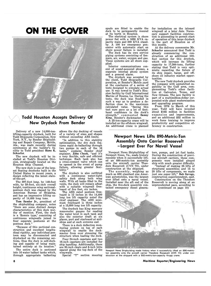 Maritime Reporter Magazine, page 6,  Mar 1983 Virginia