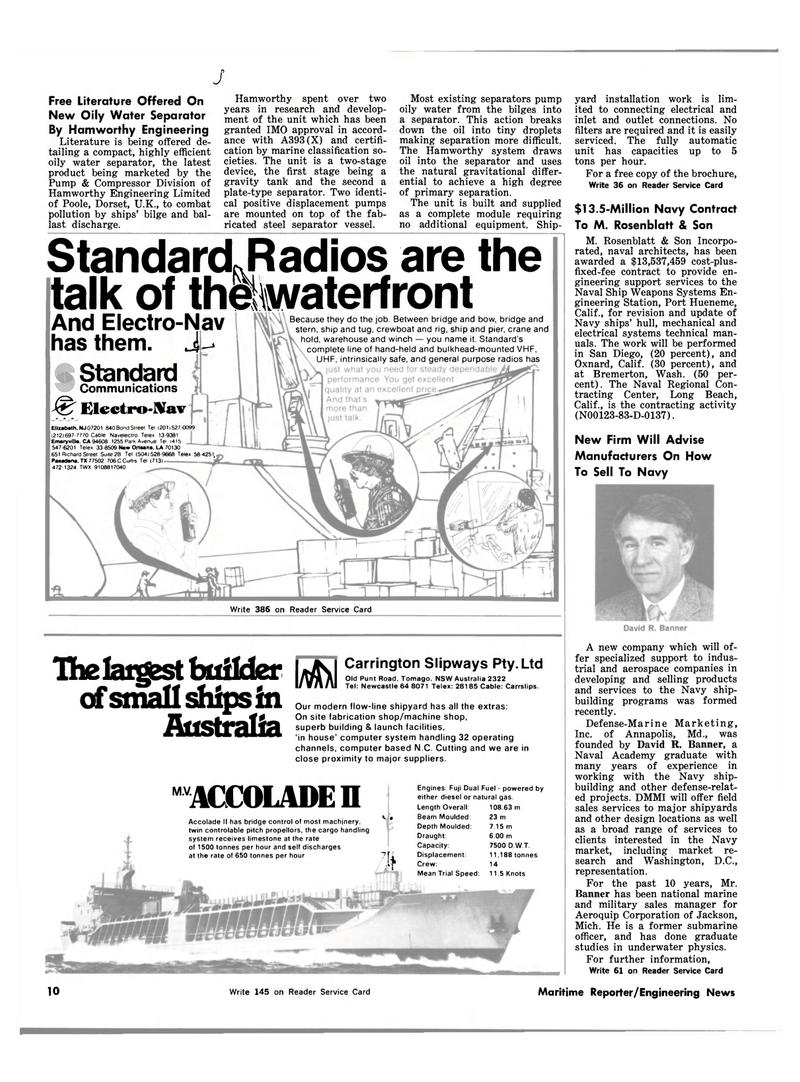 Maritime Reporter Magazine, page 8,  Mar 15, 1983 Maryland