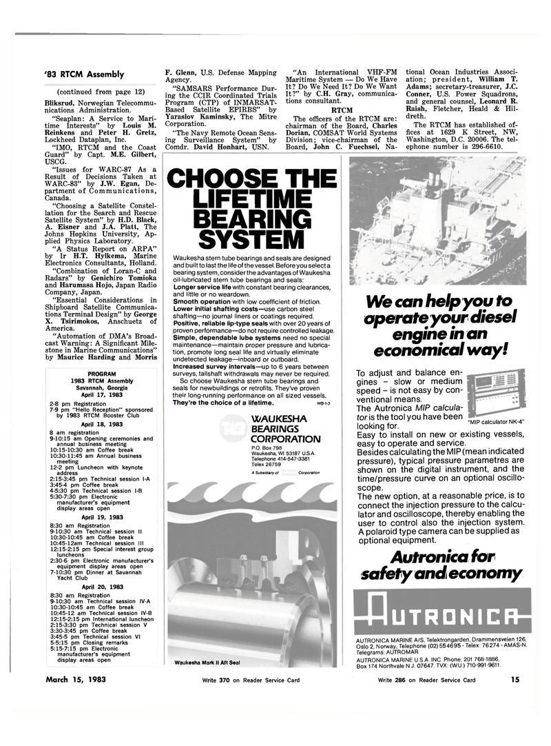 Maritime Reporter Magazine, page 13,  Mar 15, 1983 Maurice Harding