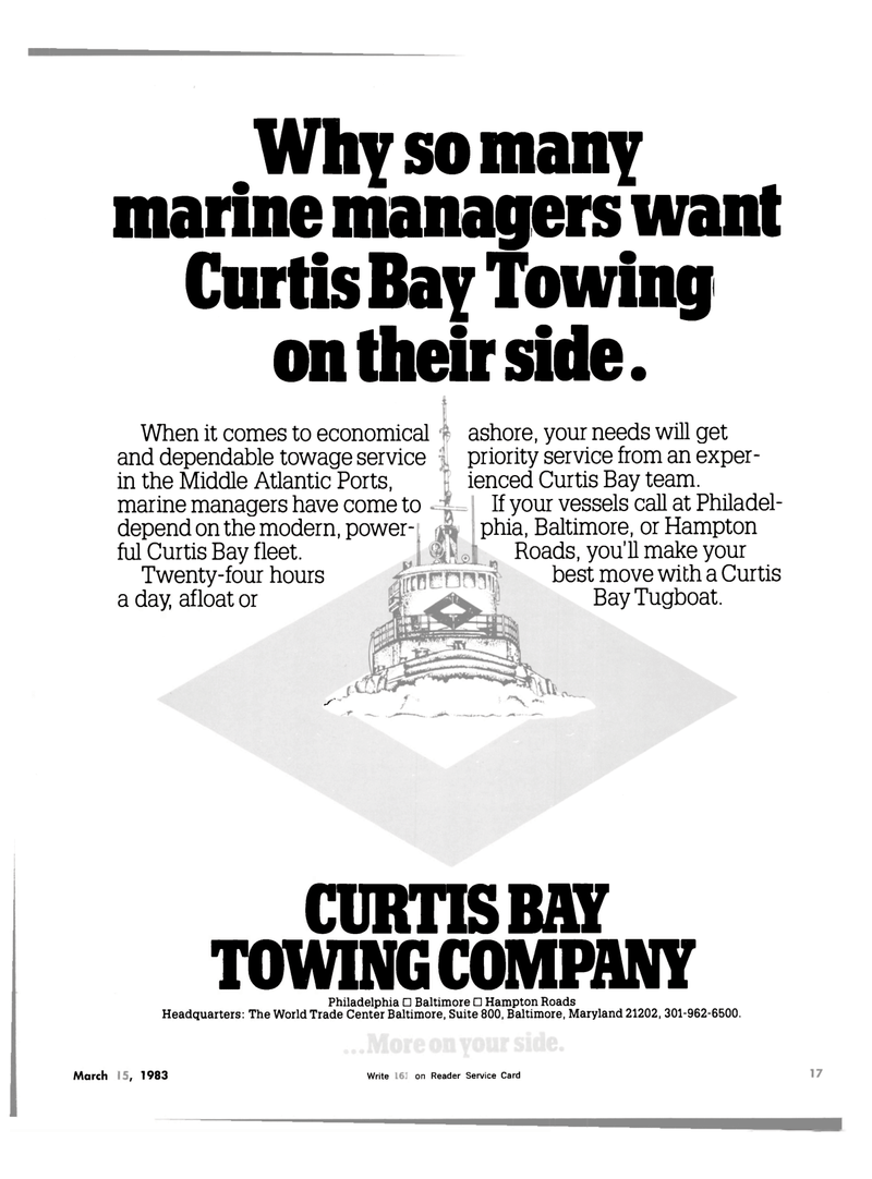 Maritime Reporter Magazine, page 17,  Mar 15, 1983 Hampton Roads Headquarters
