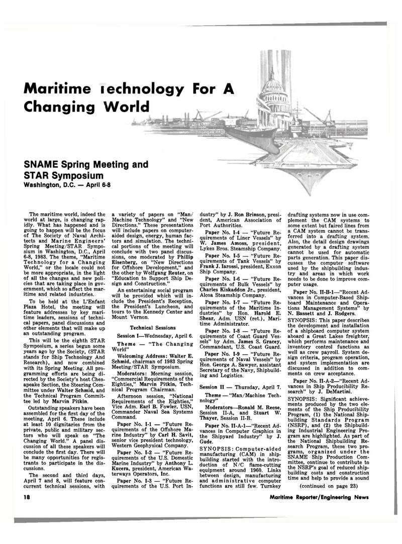 Maritime Reporter Magazine, page 18,  Mar 15, 1983