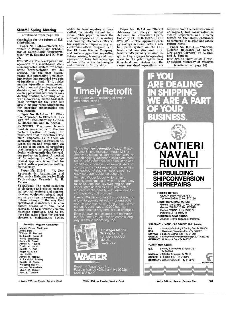 Maritime Reporter Magazine, page 23,  Mar 15, 1983