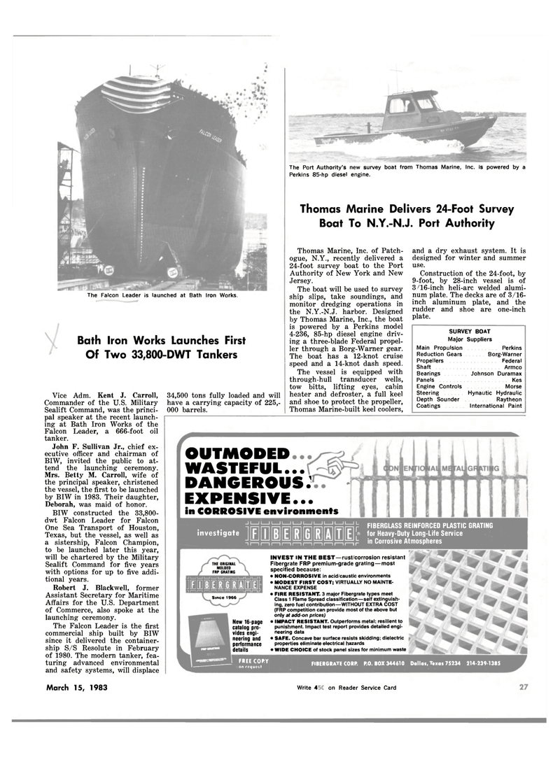 Maritime Reporter Magazine, page 27,  Mar 15, 1983 Robert J. Blackwell