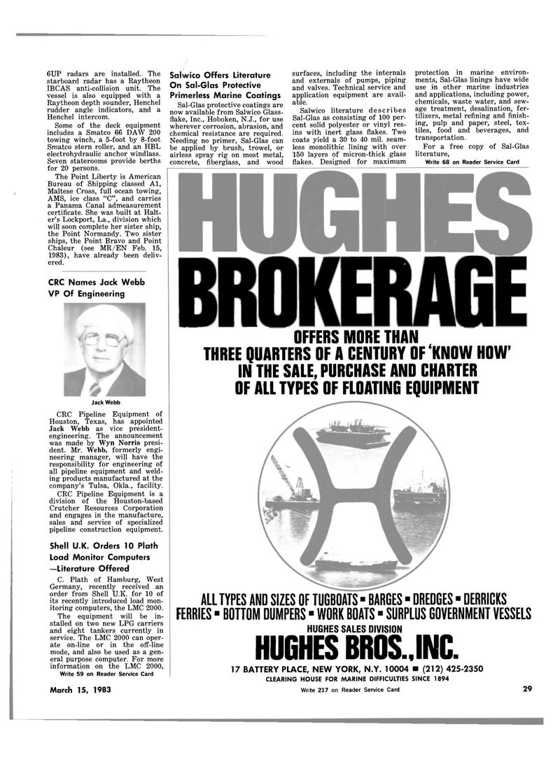 Maritime Reporter Magazine, page 29,  Mar 15, 1983
