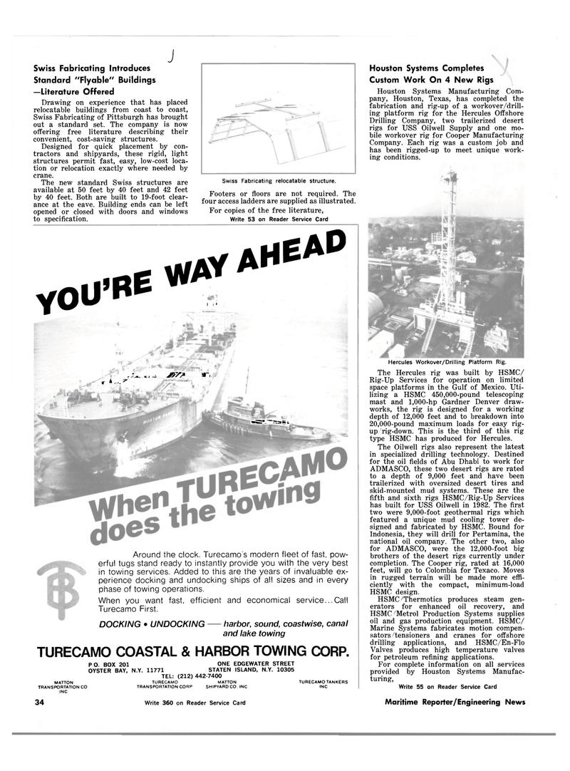 Gulf of Mexico, Maritime Reporter Magazine March 15, 1983 #34