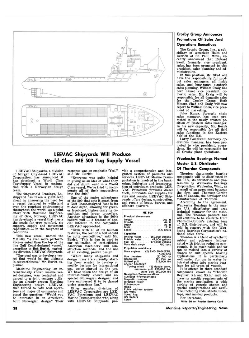 Maritime Reporter Magazine, page 40,  Mar 15, 1983