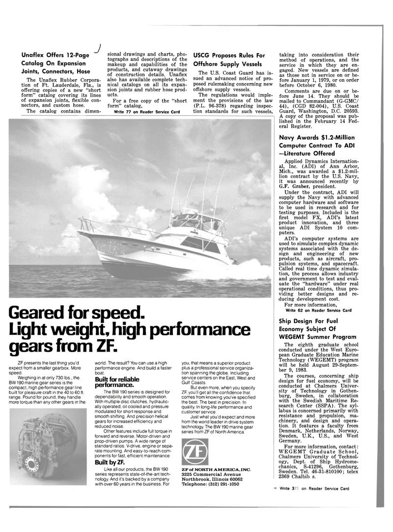 Maritime Reporter Magazine, page 42,  Mar 15, 1983