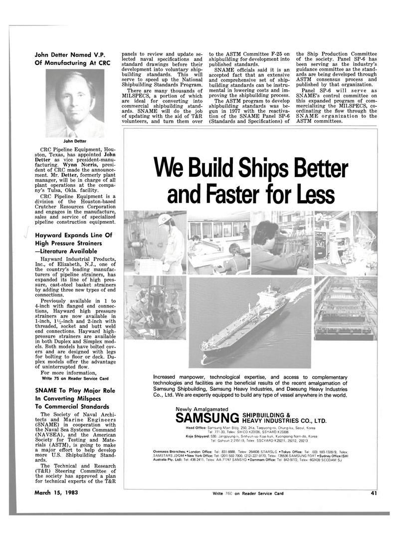 Maritime Reporter Magazine, page 43,  Mar 15, 1983